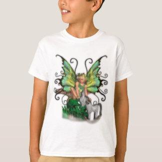 Camiseta de la hada de la mariposa de la angélica