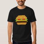 Camiseta de la hamburguesa del pixel poleras