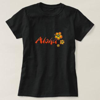 Camiseta de la hawaiana playera