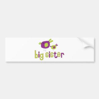 Camiseta de la hermana grande de los chirridos pegatina de parachoque