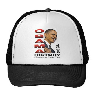 Camiseta de la historia de Barack Obama Gorro De Camionero