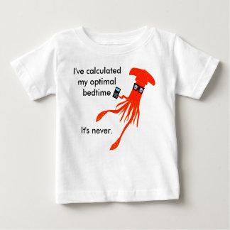 Camiseta de la hora de acostarse del calamar de la