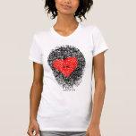 Camiseta de la huella dactilar del corazón del