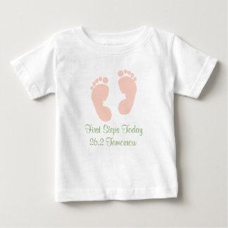 Camiseta de la huella de los rosas bebés del polera