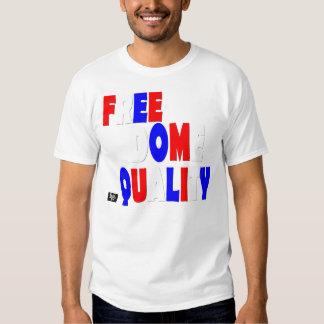 Camiseta de la igualdad de la libertad remera