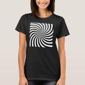 Camiseta de la ilusión óptica de las mujeres