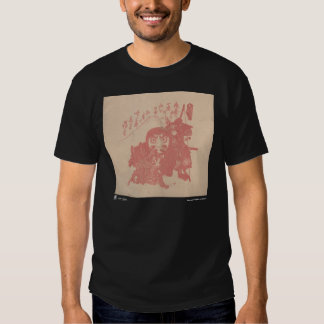 Camiseta de la impresión de la viruela, negra polera