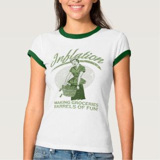 Camiseta de la inflación playeras