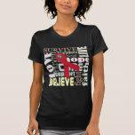 Camiseta de la inspiración del collage de la palab