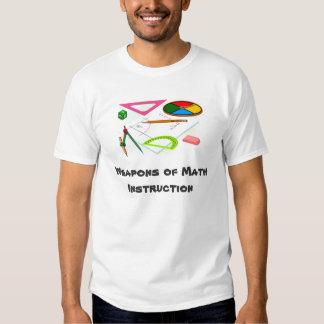 camiseta de la instrucción de la matemáticas camisas