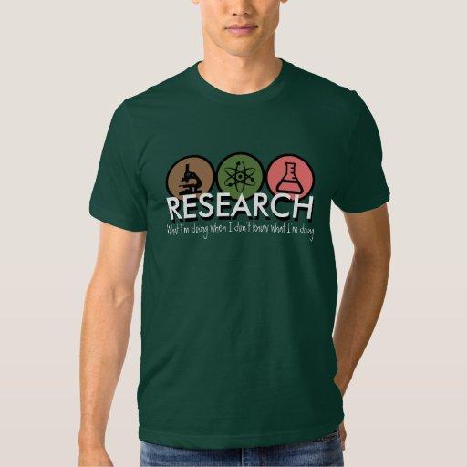 Camiseta de la investigación camisas