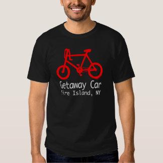 Camiseta de la isla del fuego de la bicicleta remeras
