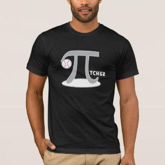 Camiseta de la jarra del béisbol - pi divertido