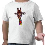 Camiseta de la jirafa del arco iris