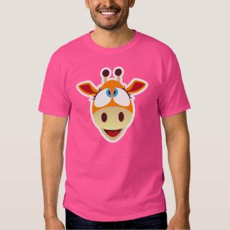 Camiseta de la jirafa playera