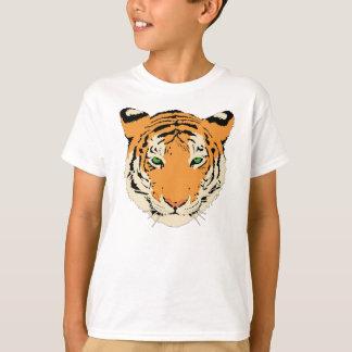 Camiseta de la juventud de la cara del tigre del camisas