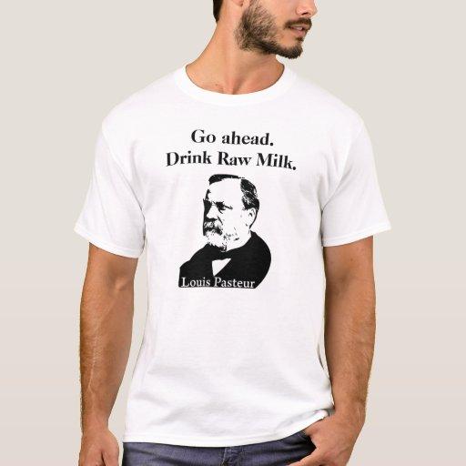 Camiseta de la leche cruda