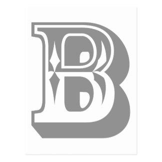 """Camiseta de la letra del alfabeto de """"B"""" Tarjeta Postal"""