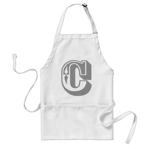 """Camiseta de la letra del alfabeto de """"C"""" Delantal"""