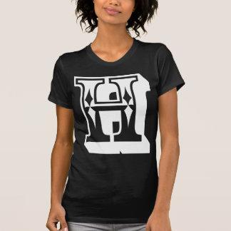 """Camiseta de la letra del alfabeto de """"H"""""""