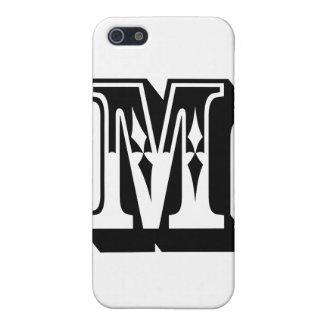 """Camiseta de la letra del texto del alfabeto de """"M"""" iPhone 5 Carcasas"""