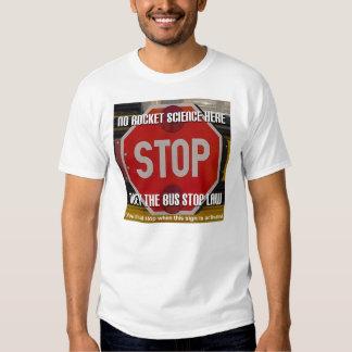 Camiseta de la ley de la parada de autobús escolar poleras