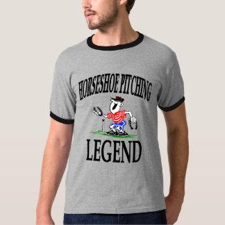Camiseta de la leyenda de las herraduras de los playeras