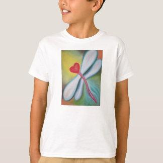 Camiseta de la libélula del corazón