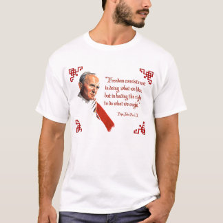 Camiseta de la libertad de Juan Pablo II