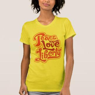 Camiseta de la libertad del amor de la paz