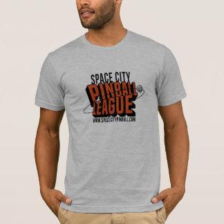 Camiseta de la liga del pinball de la ciudad del