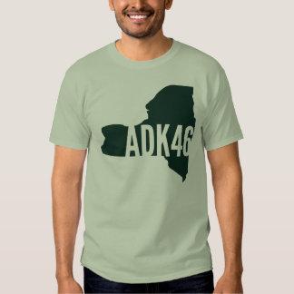 Camiseta de la lista de los altos picos de playeras
