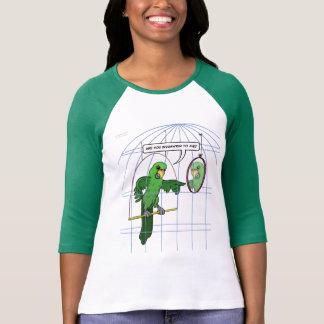 Camiseta de la lucha de la jaula del loro polera
