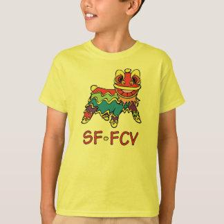 Camiseta de la luz del león de los niños