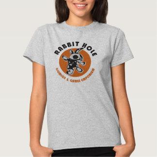 Camiseta de la madriguera de conejo playera