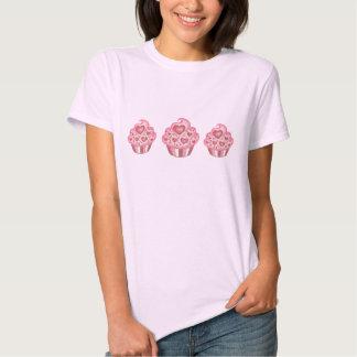 Camiseta de la magdalena de la tarjeta del día de remeras