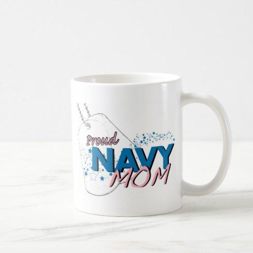 Camiseta de la mamá de la marina de guerra de las taza de café