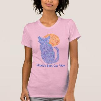 Camiseta de la mamá del gato de los mundos lindos
