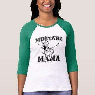 Camiseta de la mamá del mustango playeras
