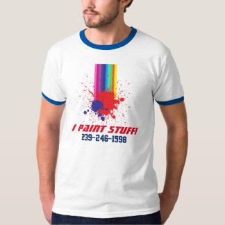 Camiseta de la mancha de la pintura del pintor playera
