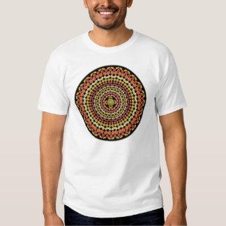 Camiseta de la mandala 1 del cactus de barril remeras