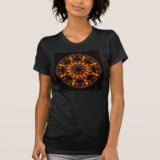 Camiseta de la mandala del fuego