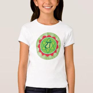 Camiseta de la manga de Chakra Anahata Girls'Cap Remera