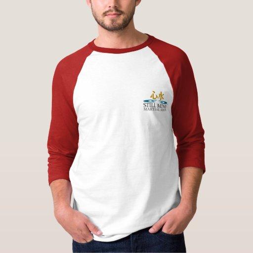 Camiseta de la manga de la parte posterior 3/4 de poleras
