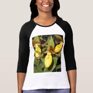 Camiseta de la manga de las señoras del deslizador playeras