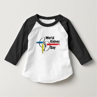 Camiseta de la manga de los niños de WKD 3/4 Playera De Bebé