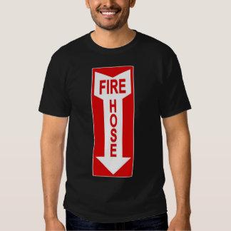 Camiseta de la manguera de bomberos playeras