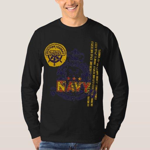 Camiseta de la marina de guerra de la escuela playera