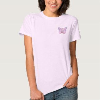 Camiseta de la mariposa 2 del rezo de la serenidad playera