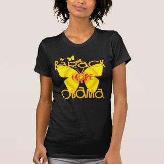 Camiseta de la mariposa de Obama de la ayuda
